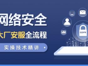 网络安全-大厂安服全流程实操精讲 视频教程 网盘下载
