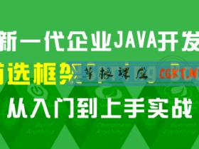 新一代企业JAVA开发首选框架:Spring Boot 从入门到上手实战