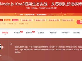 Node.js-Koa2框架生态实战-从零模拟新浪微博 网盘下载