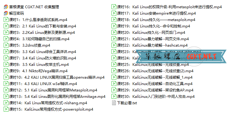 Kali Linux安全入门及各种工具