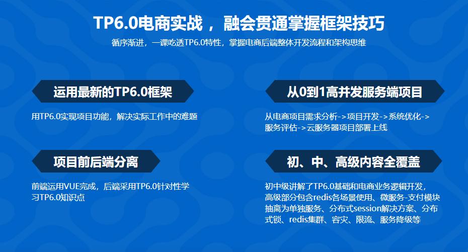 全流程开发 TP6.0实战高并发电商服务系统 升级版下载