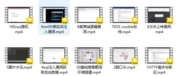 易锦教育 常见的网站安全漏洞(视频教程共10节课)