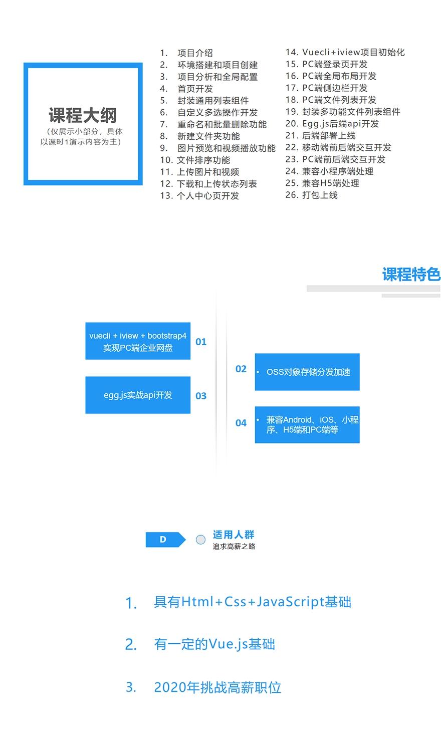 uni-app多端企业网盘全栈开发 无加密视频下载